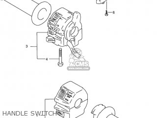 Suzuki Rf900r 1994 r Usa e03 Handle Switch