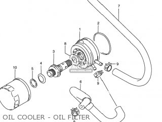 Suzuki Rf900r 1994 r Usa e03 Oil Cooler - Oil Filter