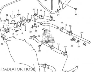 Suzuki Rf900r 1994 r Usa e03 Radiator Hose