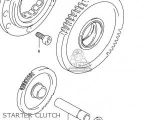 Suzuki Rf900r 1994 r Usa e03 Starter Clutch