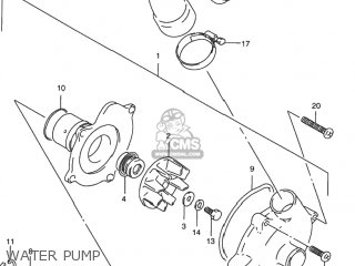 Suzuki Rf900r 1994 r Usa e03 Water Pump