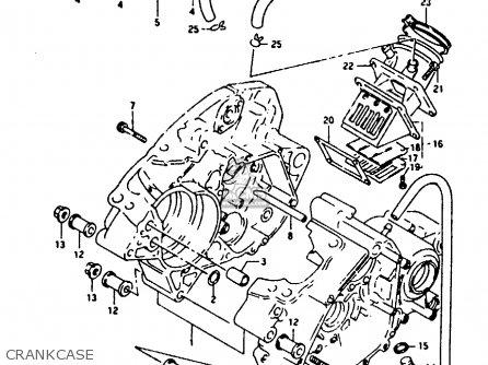 suzuki rg125 1992  fun  parts list partsmanual partsfiche