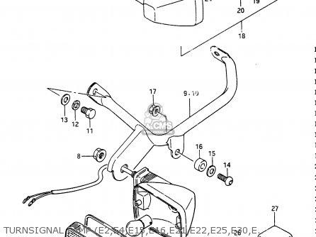 Suzuki Rg250f 1986 G E02 E16 E24 E30 Parts Lists And Schematics