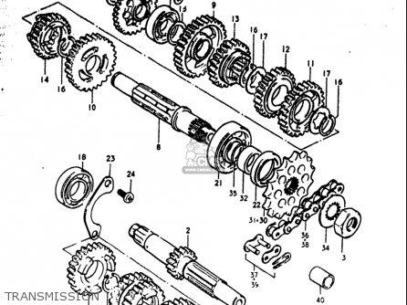 Suzuki Rm125 1979 1980  n T  Usa  e03  parts list