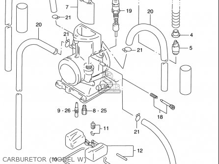 Suzuki Rm125 1996-2000 usa Carburetor model W