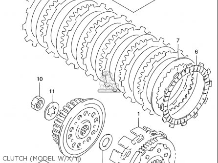 Suzuki Rm125 1996-2000 usa Clutch model W x y