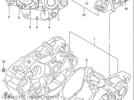 Suzuki Rm125 1996-2000 usa Crankcase model W x y