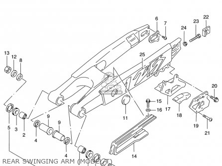 Suzuki Rm125 1996-2000 usa Rear Swinging Arm model T
