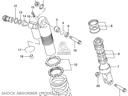 Suzuki Rm125 1996-2000 usa Shock Absorber model T