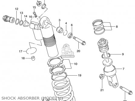Suzuki Rm125 1996-2000 usa Shock Absorber model V