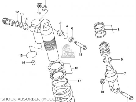 Suzuki Rm125 1996-2000 usa Shock Absorber model W