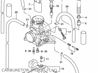 Suzuki Rm125 1996 t Usa e03 Carburetor model T v