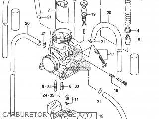 Suzuki Rm125 1996 t Usa e03 Carburetor model X y