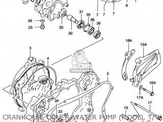Suzuki Rm125 1996 t Usa e03 Crankcase Cover-water Pump model T v