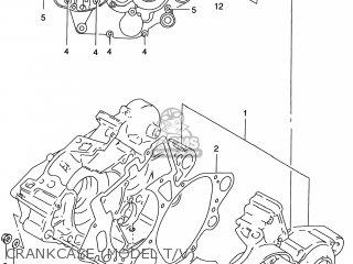 Suzuki Rm125 1996 t Usa e03 Crankcase model T v