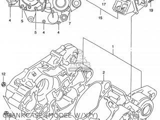 Suzuki Rm125 1996 t Usa e03 Crankcase model W x y