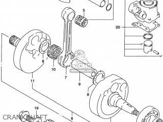 Suzuki Rm125 1996 t Usa e03 Crankshaft