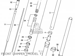 Suzuki Rm125 1996 t Usa e03 Front Damper model T