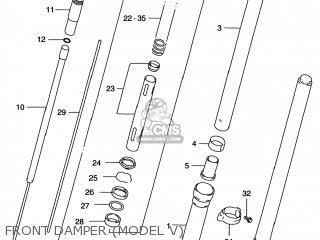 Suzuki Rm125 1996 t Usa e03 Front Damper model V