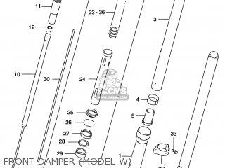 Suzuki Rm125 1996 t Usa e03 Front Damper model W
