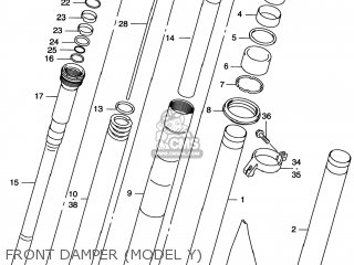 Suzuki Rm125 1996 t Usa e03 Front Damper model Y