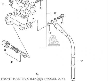 Suzuki Rm125 1996 t Usa e03 Front Master Cylinder model X y