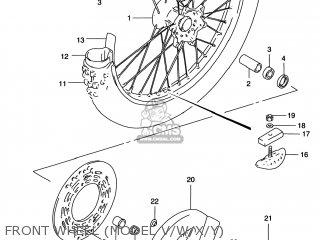 Suzuki Rm125 1996 t Usa e03 Front Wheel model V w x y