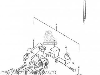 Suzuki Rm125 1996 t Usa e03 Magneto model W x y
