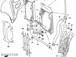 Suzuki Rm125 1996 t Usa e03 Radiator