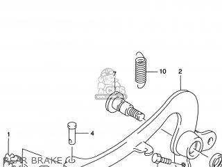 Suzuki Rm125 1996 t Usa e03 Rear Brake
