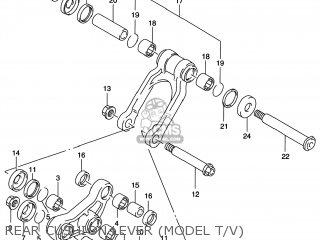 Suzuki Rm125 1996 t Usa e03 Rear Cushion Lever model T v