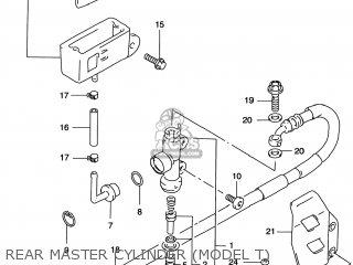 Suzuki Rm125 1996 t Usa e03 Rear Master Cylinder model T
