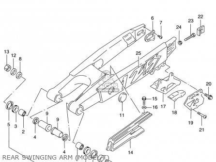 Suzuki Rm125 1996 t Usa e03 Rear Swinging Arm model T