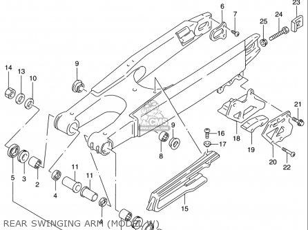 Suzuki Rm125 1996 t Usa e03 Rear Swinging Arm model W