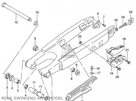 Suzuki Rm125 1996 t Usa e03 Rear Swinging Arm model X