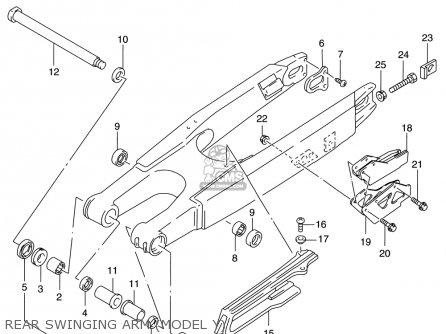 Suzuki Rm125 1996 t Usa e03 Rear Swinging Arm model Y