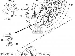 Suzuki Rm125 1996 t Usa e03 Rear Wheel model T v w x