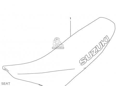 Suzuki Rm125 1996 t Usa e03 Seat