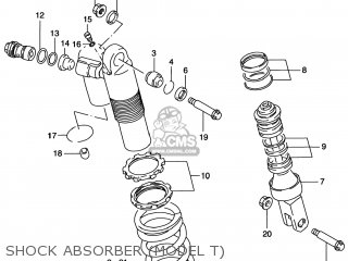 Suzuki Rm125 1996 t Usa e03 Shock Absorber model T
