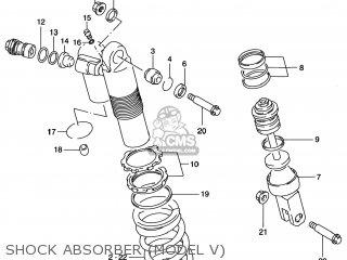Suzuki Rm125 1996 t Usa e03 Shock Absorber model V