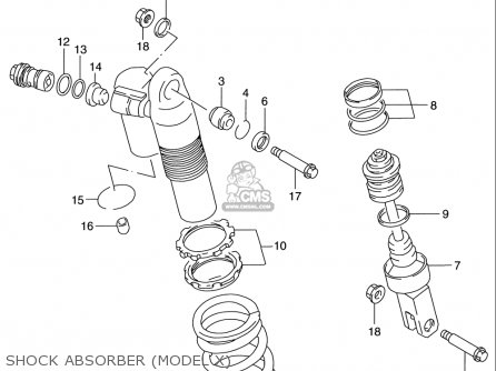 Suzuki Rm125 1996 t Usa e03 Shock Absorber model X