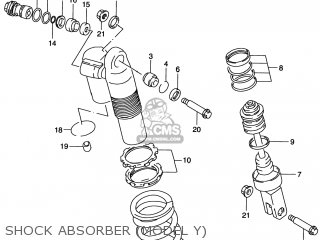 Suzuki Rm125 1996 t Usa e03 Shock Absorber model Y