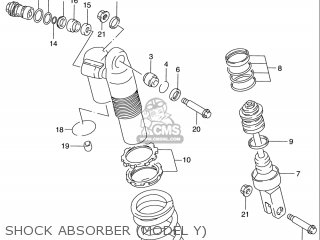 Suzuki Rm125 1996 t Usa e03 Shock Absorber model Y
