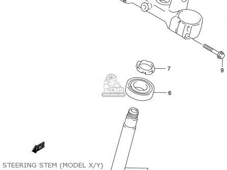 Suzuki Rm125 1996 t Usa e03 Steering Stem model X y