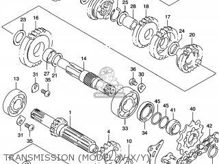 Suzuki Rm125 1996 t Usa e03 Transmission model W x y