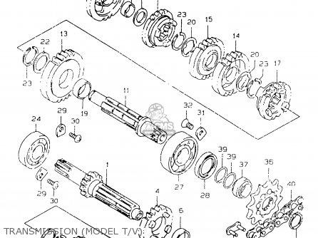 Suzuki Rm125 1998 W E02 E04 E24 E37 Parts Lists And