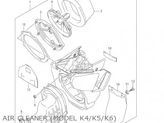 Suzuki RM125 2004 (K4) USA (E03) parts lists and schematics