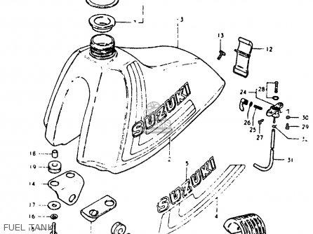 suzuki rm125 rm125 1979 1980  n t  parts lists and schematics