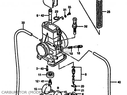 Suzuki Rm250 1987 h Carburetor model G