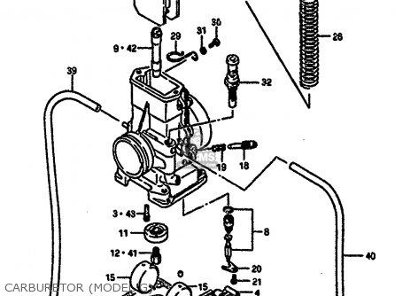 Suzuki Rm250 1987 h Carburetor model G